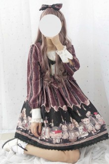 Original Childlike Lace Side Sweet Lolita OP Dress 2 Colors