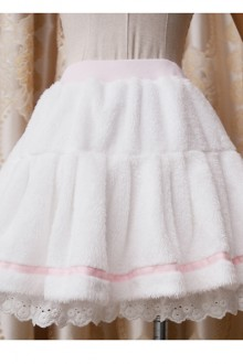 Princess Tower Cotton Lace Plush Sweet Lolita Skirts