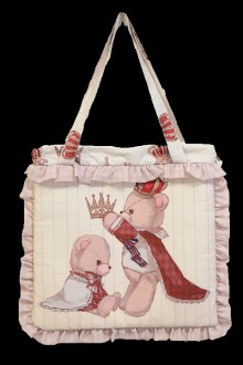 "Lolita New Original Print Design ""Plus Raccoon"" Bag 3 Colors"