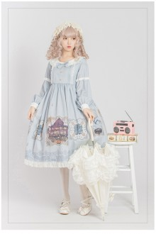 Original <Gallery> Long Sleeve Sweet Lolita OP Dress