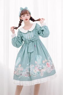 Original <Rabbit Basket> Sweet Lolita OP Dress