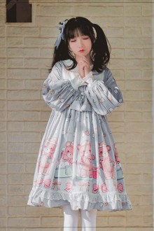 Original <Seeping Bear> Long Sleeve Sweet Lolita OP Dress
