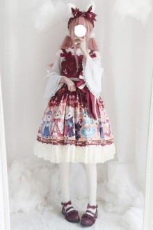 "Original New Print ""Showa Bunny"" Sweet Lolita JSK Dress 3 Colors"