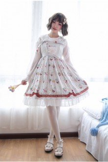 Original <Coffee Cup Animal> Sweet Lolita JSK Dress