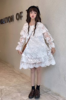 2019 New Loose Wild Long Sleeve Sweet Lolita Dress