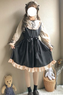 Original Cute Girl Long Sleeve Sweet Lolita Dress