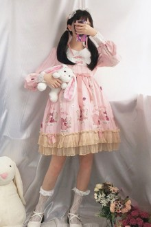 Cute Vintage Princess Sweet Lolita OP Dress 3 Colors