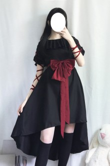 Original Gothic Dark Long Sleeve Gothic Lolita OP Dress
