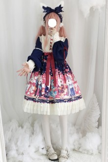 Original Genuine New Print Sweet Lolita OP Dress 3 Colors