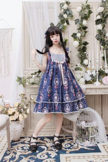 Alice Girl Original New <Photo Frame Cat> Bow Sweet Lolita JSK Dress 5 Colors