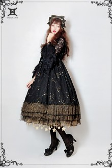 Souffle Song Exclusive Design [Star language Wish ] Chiffon Hot Stamping Sweet Lolita JSK Dress 2 Colors