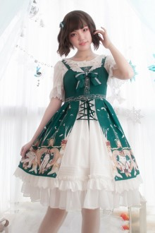 Original Design Print Chiffon Sleeveless Sweet Lolita JSK Dress