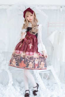 Original Authentic Temperament Retro European Sweet Lolita JSK Dress