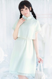 Chinese Style Chiffon Small Fresh Retro Sweet Lolita Dress 2 Colors