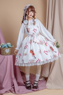 "Original Authentic Print ""Sound Of Music"" Sweet Lolita Dress 2 Colors"