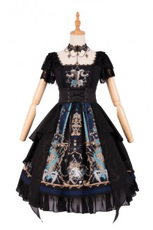 2019 Original New <God Redemption> Gothic Lolita OP Dress