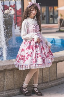 Original Print <Little Bear> Sweet Lolita JSK Dress 2 Colors