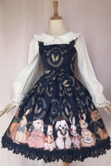 Original New Print * Rabbit Estate Harvest Season * Sweet Lolita JSK Dress 4 Colors