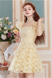 2019 New Large Size Mesh Embroidery Day Sweet Beautiful Lolita Dress