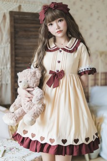 Ruffles Short Sleeves High Waist Sweet Lolita OP Dress