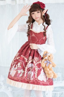 Wine Painting Printing Sweet Lolita JSK Dress