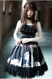 "Original ""Naxos"" Vintage Dark Gothic Lolita JSK Dress"
