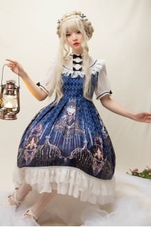 "Original ""Devil's Tears"" Short Sleeve Sweet Lolita OP Dress"