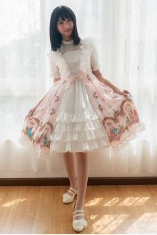 Original Print <Fox Country> Bow Dweet Lolita JSK Dress