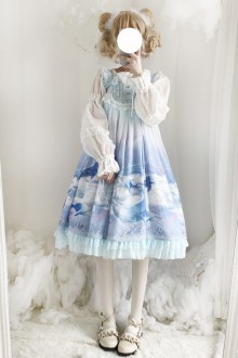 Original Whale Japanese Sling Sweet Lolita JSK Dress 2 Colors