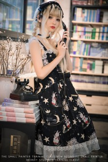 "Original ""Chorus"" Black Sleeveless Sweet Lolita Dress"