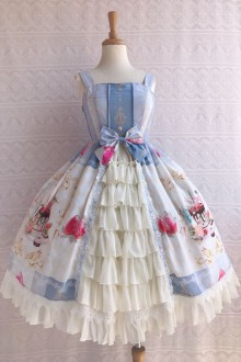 Original New Print * Summer Cool Dessert * Open Chiffon Sweet Lolita JSK Dress 3 Colors