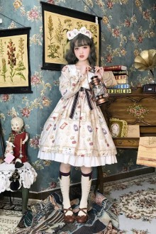 2019 New Original Small High Waist Lotus Leaf Sweet Lolita OP Dress