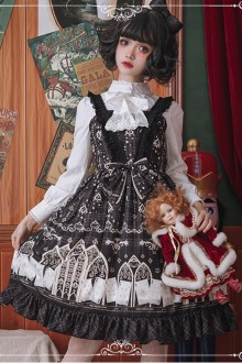 Original Design <Louis Poker City> Printed Sweet Lolita Dress