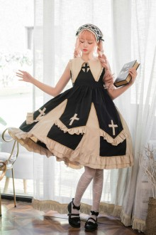 "Original Design ""Black Angel"" Cross Gothic Lolita JSK Dress"