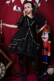 Original New Chiffon Dark Gothic Lolita Dress