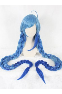 Blue Gradient Double Ponytail Sweet Lolita Cosplay Wigs