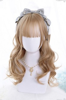 Brown Or Black Medium Length Curly Hair Classic Lolita Wigs
