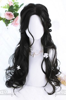 Natural Black Daily Long Curly Hair Lolita Wigs