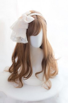 Brown Or Black Medium Length Curly Hair Lolita Wigs