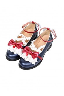 Cute Ruffle Bowknot Lolita Low-heel Shoes