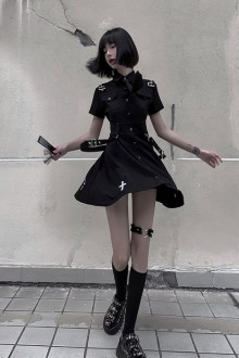 Original Fashion Personality Dark Gothic Lolita Dress