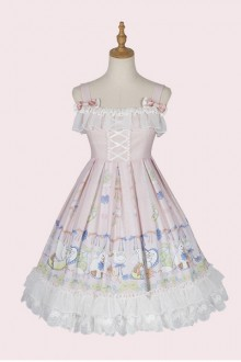 "Original Design ""Lemon Duck"" Sleeveless Pink Sweet Lolita JSK Dress"