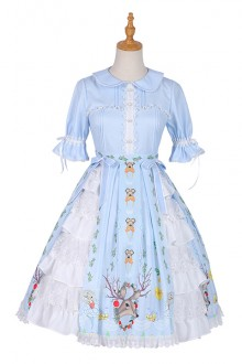 Original Design Garden Style Light Blue Sweet Lolita Dress