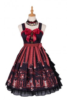"Original Design ""Chess Cat"" Sleeveless Dark Gothic Lolita Dress"