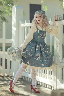 "Original Design Print ""Broken Doll"" Sweet Lolita JSK Dress 4 Colors"
