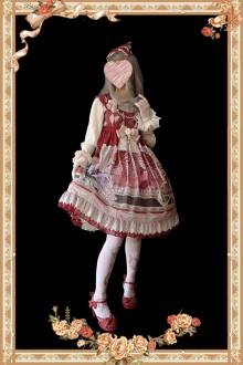 "Original Design Print ""Opera"" Sweet Lolita JSK Dress 2 Colors"