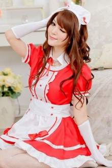 Maid Cosplay Costume Short Sleeves Sweet Lolita Dresses