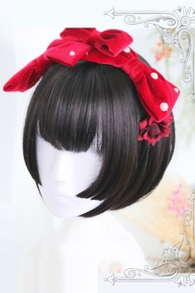 Hime Cut Wig Black Short Straight Hair Lolita Wig