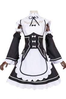 Black Cosplay Maid Costume Sweet Lolita Maid Dress