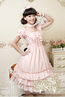Pink Puff Dress Short Sleeves Lolita Dress
